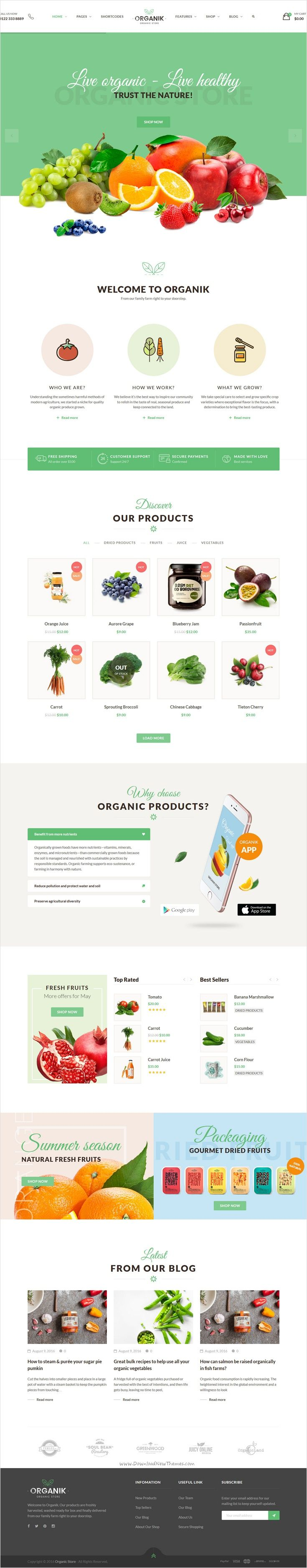 Organik is a wonderful 4 in 1 #WordPress WooCommerce theme designed specially for #webdev #organic #store, farm & bakery industry download now➩ https://themeforest.net/item/organik-an-appealing-organic-store-farm-bakery-woocomerce-theme/17678863?ref=Datasata