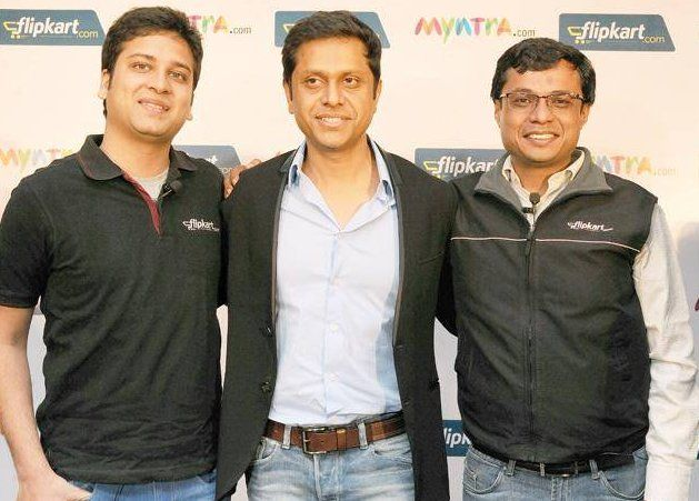 Ankit Nagori  with Mukesh bansal and Sachin Bansal - Flipkart