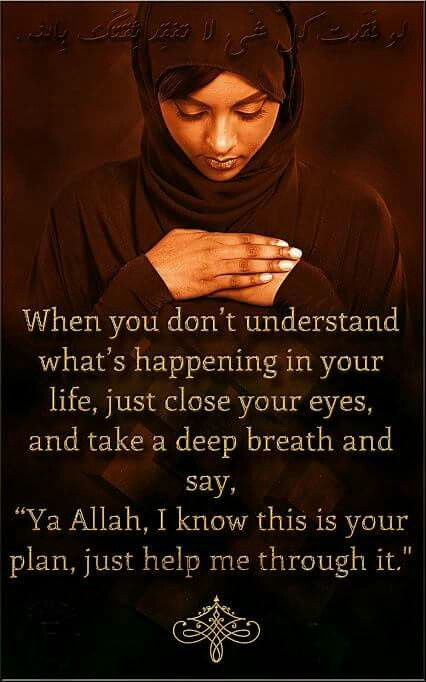 Only Allah can help you!!!