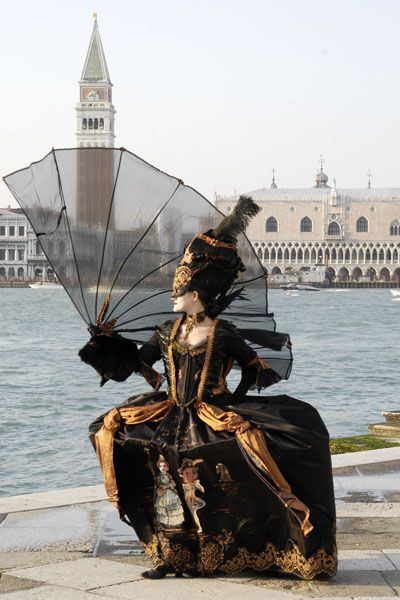 """The skirt of her """"Farinella"""" costume showed current Italian Prime Minister..."""