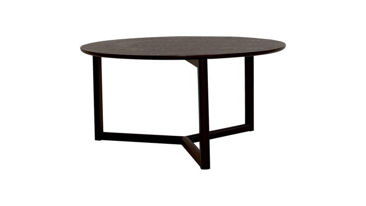 Svart Hjorten soffbord. Runt, rund, trä, bord, möbler, inredning. http://sweef.se/bord/442-hjorten-soffbord-runt-90cm.html
