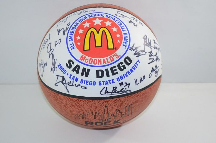 2006 McDonalds All American Kevin Durant / Mike Conley Team Signed / Autograph Ball - UCLA