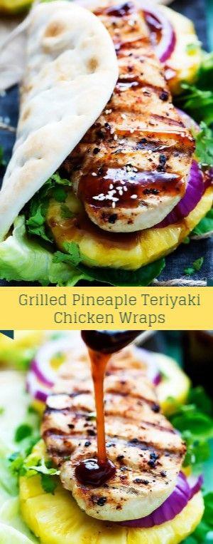 Grilled Pineaple Teriyaki Chicken Wraps  Grilled Pineapple Teriyaki Doormat Wrap…