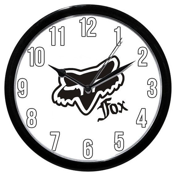 Fox Racing Logo Clock / Frisbee Golf Disc Clothing Motorcycles on Etsy, $26.99