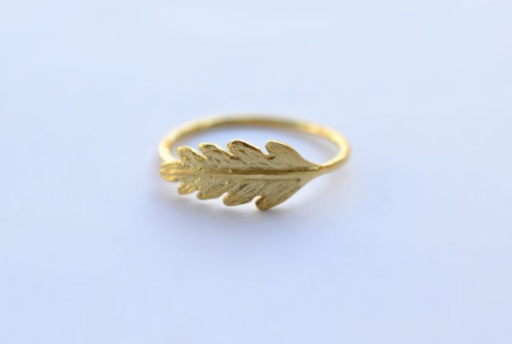 Christmas Gift Gold Oak Leaf Ring, Life Ring Solid 18k Gold Ring Botanical Gold Ring Unique Dainty Ring Druid Gold Ring 18k Gold Leaf Ring