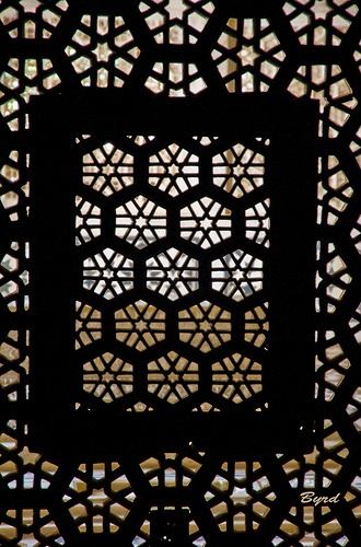 Decorative window lattice - Akbar's mausoleum