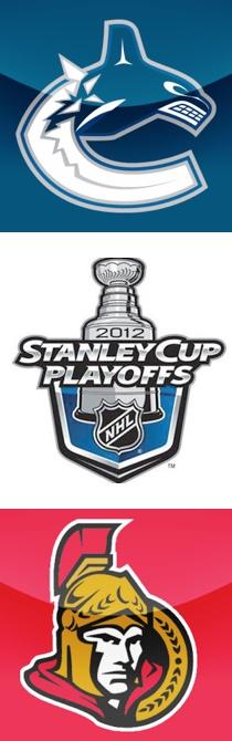 Les Stanley Cup Playoffs 2012 ont débuté ! Les Sénateurs d'Ottawa et les Canucks de Vancouver sont les deux équipes canadiennes qui ont réussi à s'engager dans la course pour la coupe Stanley cette année!