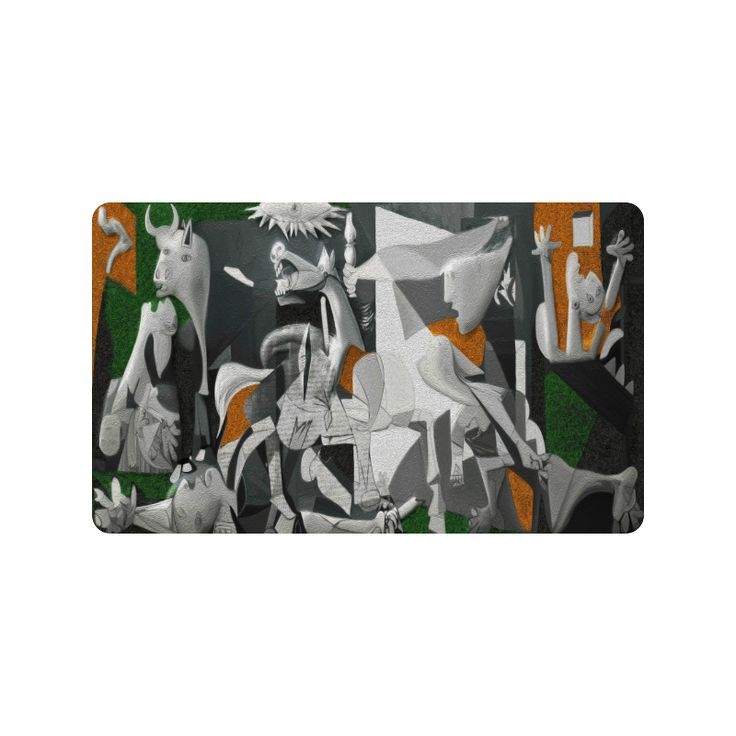 "My Picasso Serie:Guernica Doormat 30""x18"" (Large)"