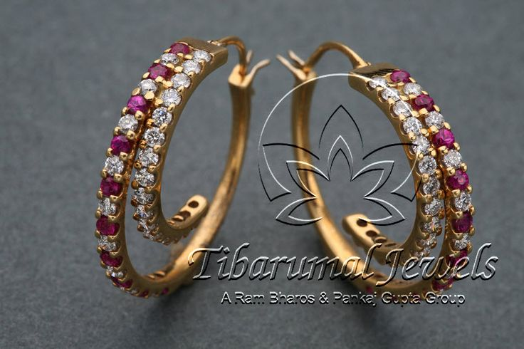 Diamond Ear Tops | Tibarumal Jewels | Jewellers of Gems, Pearls, Diamonds, and Precious Stones