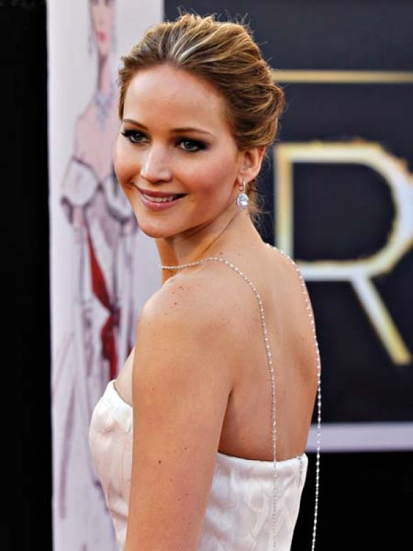 Jennifer LawrenceThe actress, who won the best actress Oscar for Silver Linings Playbook, played Cinderella in a gorgeous white gown. The Choppard neckpiece, gracefully placed down her back, and diamond drop earrings added to the fairy-tale charm.