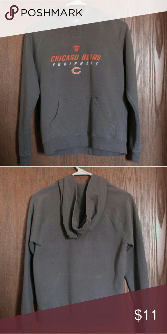 Chicago Bears Hoodie Reebok Good condition pull over hoodie. Womens small petite. Reebok made. Reebok Tops Sweatshirts & Hoodies
