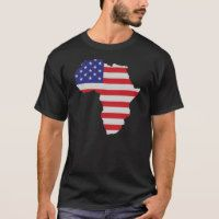 African American Africa United States Flag T-Shirt