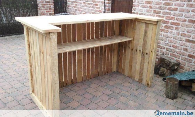 Bar en palette en bois recherche google useful for Meuble patio en palette