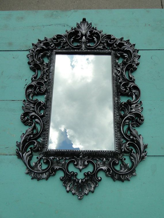 Large Ornate Vintage Mirror Wall By Trwpainted Dark Decor Pinterest Mirrors And Home