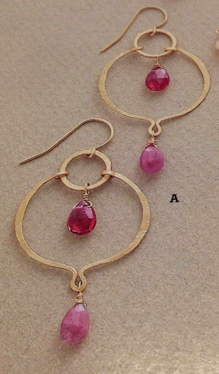 Earrings - I love the shape of the frame with the drop.