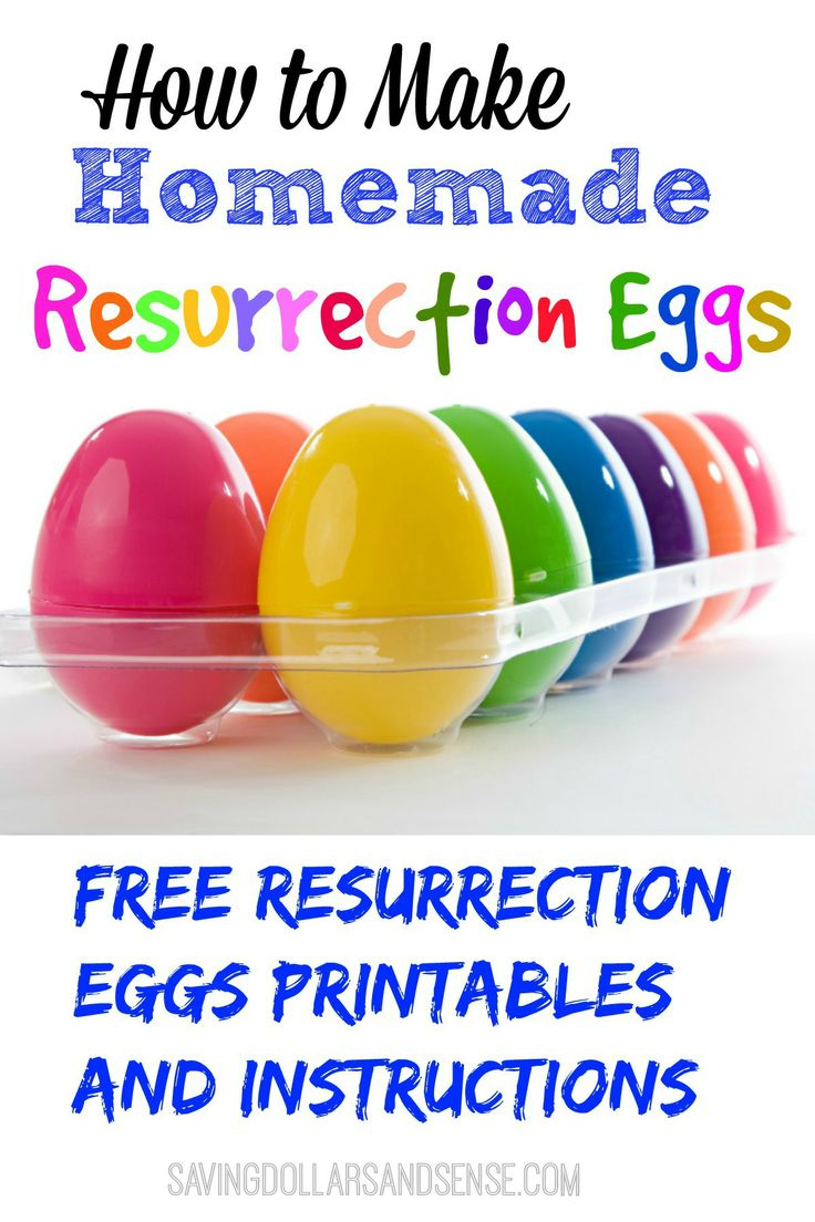 Make your own Homemade Resurrection Eggs using these free printables. Fun and simple way to share the Resurrection Story with your little ones this Easter!