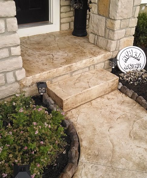 17 Best Ideas About Stamped Concrete Walkway On Pinterest