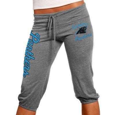 Carolina Panthers Ladies Touchdown Tri-Blend Crop Pants - Steel