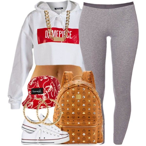 A fashion look from August 2014 featuring Schiesser leggings, Converse sneakers and MCM backpacks. Browse and shop related looks.