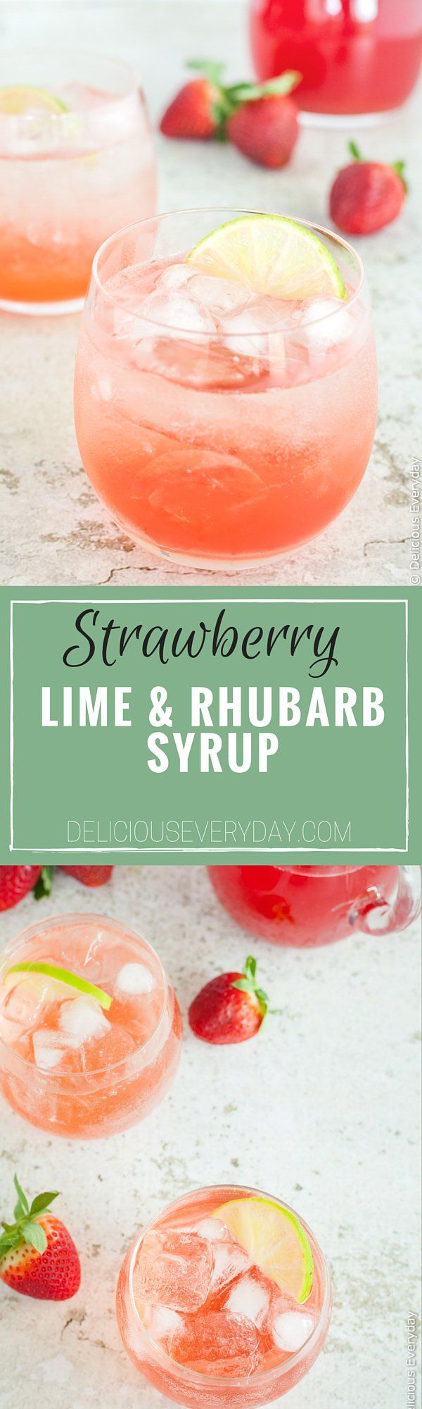 rhubarb and lime. Add this gorgeous strawberry, lime and rhubarb syrup ...