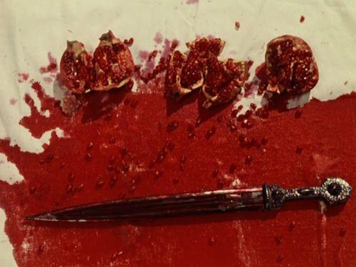 The Color of Pomegranates/Sayat Nova (Sergei Parajanov, 1968). Production design Stepan Andranikyan. Art direction Sergei Parajanov. Set decoration Mikael Arakelyan.