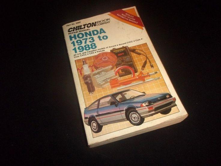 Vintage Chilton's Repair Manual  HONDA 1973 to 1988 - Fair Condition! #Chiltons