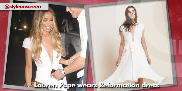 where did lauren pope get her white dress from whilst out and about last night 31/07/14? - Style on Screen