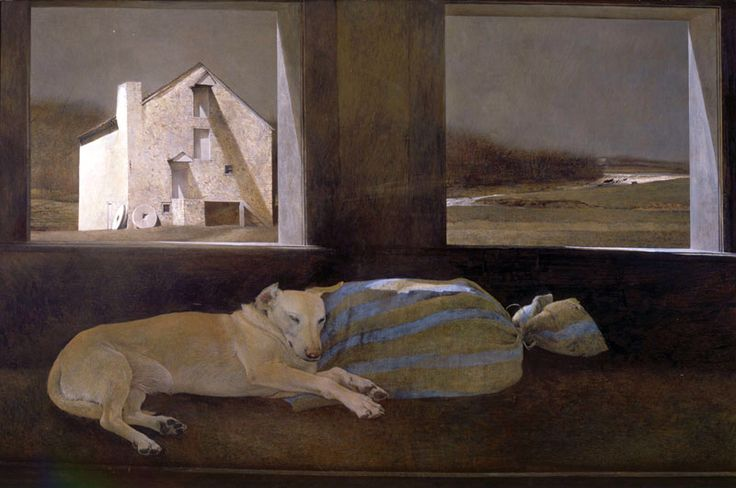Night Sleeper by Andrew Wyeth - Tempura on Panel - 1979