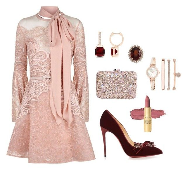 """""""Family Relations!!!"""" by kelornp ❤ liked on Polyvore featuring Elie Saab, Christian Louboutin and Anne Klein"""
