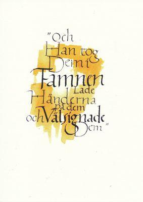 78288 - Barnvälsignelse kalligrafi