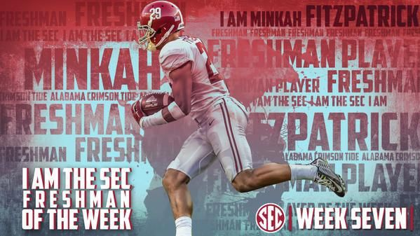 By Chris Cluxton (@Cluxton24) The No. 8 Alabama Crimson Tide had two players earn National recognition on Tuesday morning Minkah Fitzpatrick and Eddie Jackson shared the Football Writer's Association of America's Defensive Player-of-the-Week Honors for their performance against the Texas A&M Aggies this past Saturday afternoon at Kyle Field. Fiztpatrick, a true freshman defensive back,…