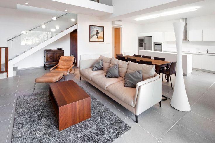 Light Grey Floor Tiles Mahogany Wood Accessories