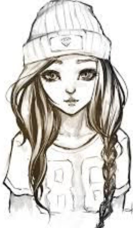 Cute middle school girl scketch | Art/drawing in 2019 ...