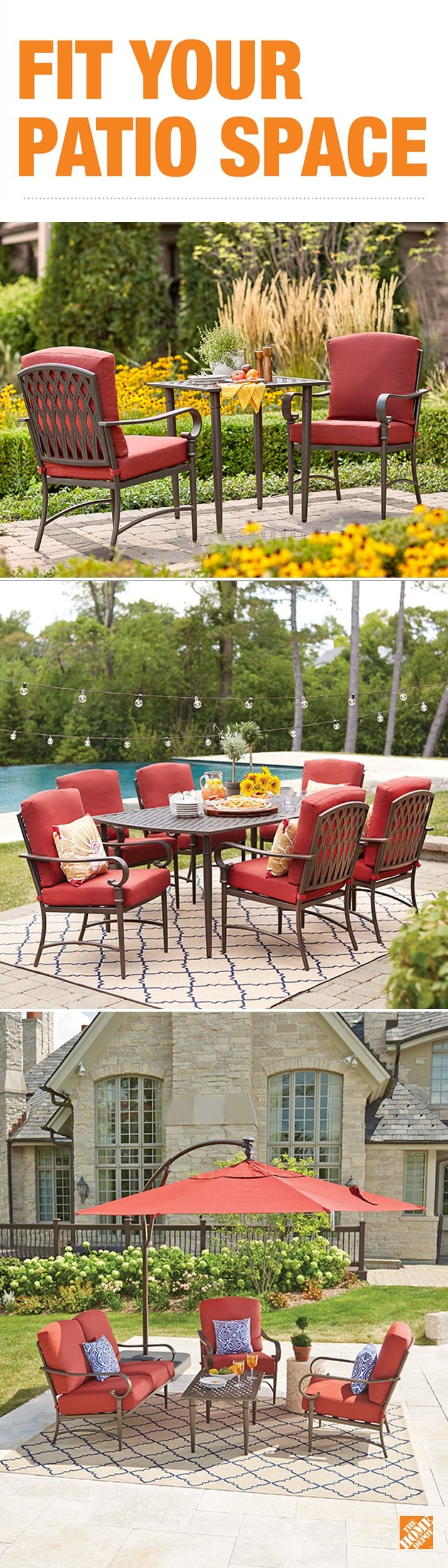 Choose A Patio Set That Fits Your Style And Your Space. The Oak Cliff Looks