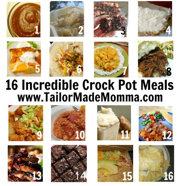 16 Amazing Crock Pot Meals! - I'm wanting to try the Chicken & Dumplings.: 16 Incredible, Crockpot Meals, Incredible Crock, Crock Pots Recipes, Amazing Crock, 16 Crock, Chicken Dumplings, Pots Meals, Crock Pot Recipes