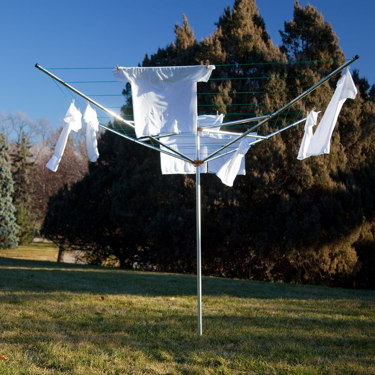 Breezecatcher TS4-36M 7-Line Outdoor Umbrella Clothesline | from hayneedle.com