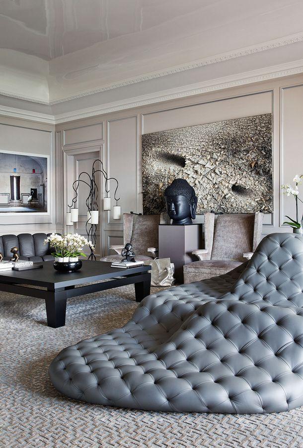 ♂ contemporary interior design space with unique home sitting furniture.