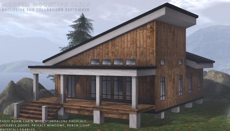 Best Slanted Roof Modern Cabin With Marble Accents Modern 640 x 480