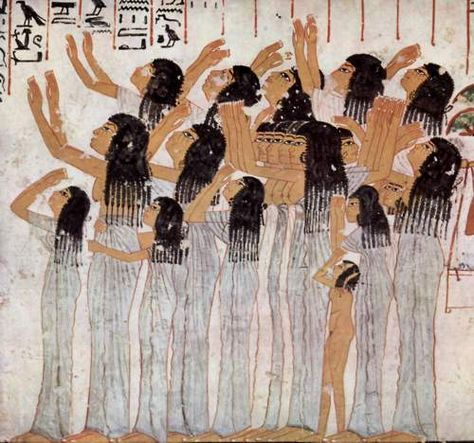 Lamenting Women, from the tomb (TT55) of Ramose, c. 1411-1375 BCE Larger image:  HERE