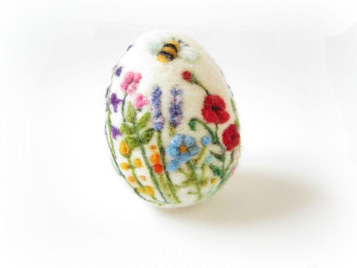 Easter EggNeedle felted eggSpring OrnamentNeedle by Crafts2Cherish