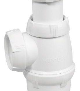 Wirquin SP3213 Siphon d'évier réglable NF 1″ ½ Diamètre 40 mm: Siphon d'évier nf réglable Réglable en hauteur de 131 à 176 mm Garde d'eau…