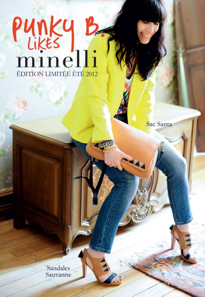 cp minelli -mars 2012-v5.indd Yellow Blazer/tribal heels/clutch for spring!