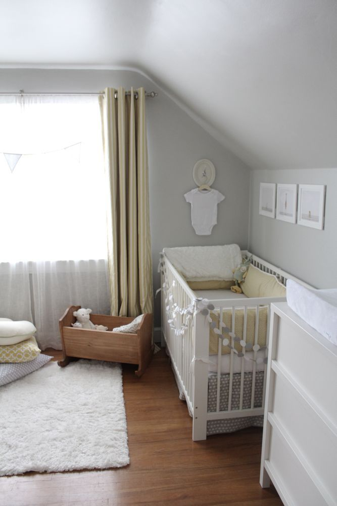 Cute gray and neutral nursery... mostly Ikea too