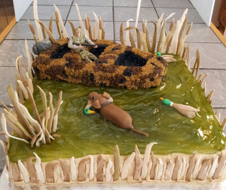 Duck hunting cake