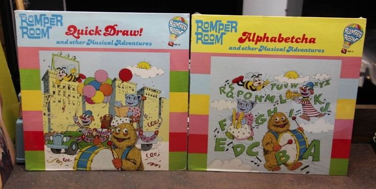 ROMPER ROOM 2x LP Lot Quick Draw / Alphabetcha NEW & SEALED #Educational