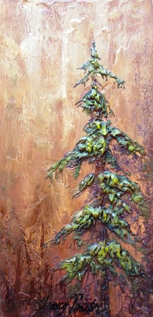 Tracy Proctor  Encaustic on Wood Panel