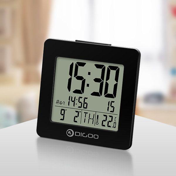 Digoo Dg C2 Home Comfort Indoor Digital Blue Backlit Lcd Thermometer Desk Alarm Clock 3