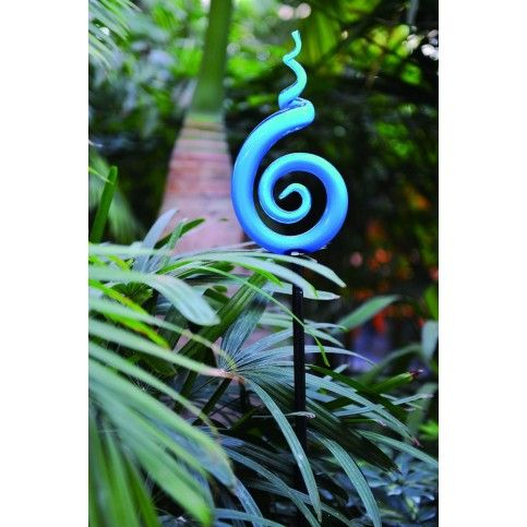 Atolla Lighting | Create spectacular displays of colour with these hand blown glass Spirals. Place them in garden settings to create unique focal points which immediately capture your imagination. www.atollalighting.com.au