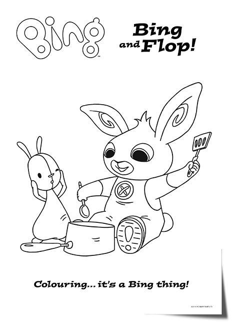 bing bunny cbeebies coloring pages
