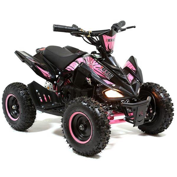 Funbikes Toxic 800w Black Pink Kids Electric Mini Quad Bike Quad